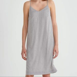 Frank & Oak Pin Stripe Slip Dress Sz XL